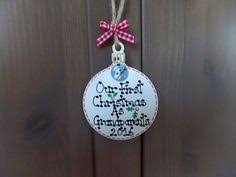 Personalised Baby S First Christmas Wooden Tree Decoration by Personalised Our First Christmas Together Bauble Snowman Tree