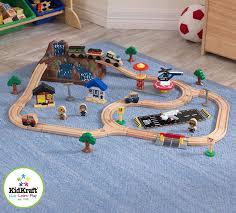 scientific toys santa fe battery operated train set steam engine
