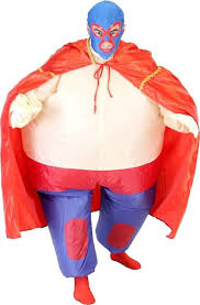 Blow Halloween Costumes Lucha Libre Chub Suit Inflatable Blow Costume
