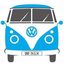 volkswagen hippie van front vw wedding invites alice hampson design