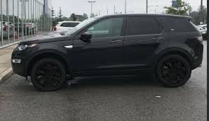black land rover with black rims powder coat rims land rover discovery sport forum