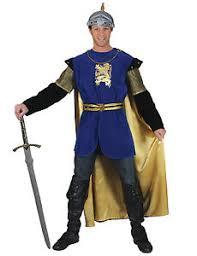 Blue Man Halloween Costume Blue Knight Lion Crest Squire Renaissance Medieval Mens Halloween