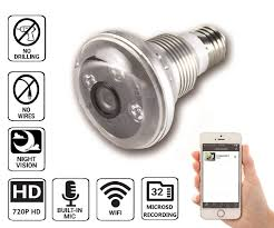 wifi camera light bulb socket amazon com nucam 720p light bulb ip hd wifi ir night vision camera