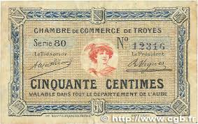 chambre de commerce troyes 50 centimes regionalism and miscellaneous troyes 1918 jp