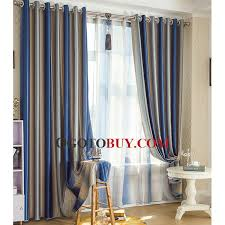 Blue And Striped Curtains Captivating Blue Stripe Curtains Inspiration With Curtain Navy