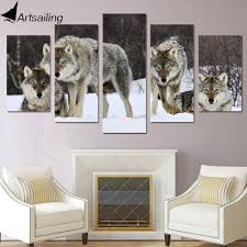 aliexpress com buy hd printed 5 piece canvas art wolf snow wild aliexpress com buy hd printed 5 piece canvas art wolf snow wild animal painting livingroom decoration wall art free shipping ny 2808 from reliable 5 piece