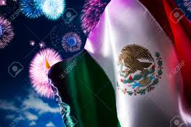 Stock Feather Flags Mexican Flag With Dramatic Lighting Independence Day Cinco