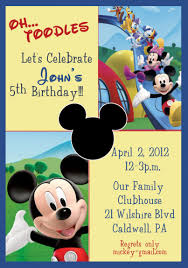 template mickey mouse clubhouse 1st birthday invitations mickey