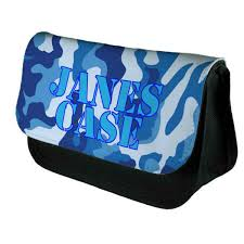 blue camouflage personalised bag perfect gift idea for her