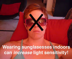 glasses for eyes sensitive to light wearing sunglasses indoors can worsen light sensitivity the daily
