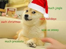 Christmas Doge Meme - doge greets you for christmas leisure pinterest doge