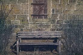free photo facade bank wooden windows window wooden bench