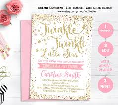 twinkle twinkle baby shower invitations twinkle twinkle baby shower invitation pink and