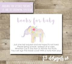 watercolor elephant baby shower thank you card elephant
