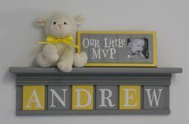 Boy Nursery Wall Decor by Baby Boy Room Decoration Name Nursery Decor Shelf Gray With