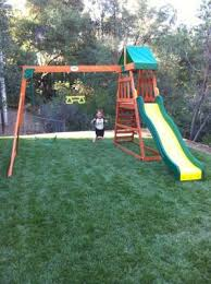 Backyard Adventures Price List Backyard Discovery Prescott Cedar Wooden Swing Set Walmart Com