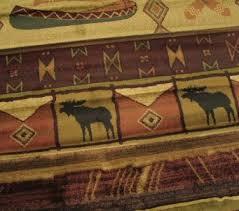 Rustic Lodge Rugs Genesis Rivercross Moose Cabin Rug United Weavers The Log