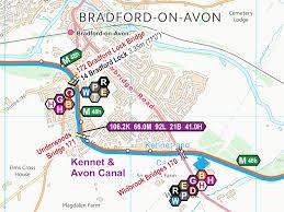 Avon Ohio Map Kenent U0026 Avon Canal Maps U2013 Waterway Routes