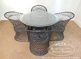 Vintage Woodard Patio Furniture by Vintage Russell Woodard Spun Fiberglass Chair With Alpaca Seat