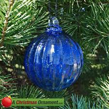 christmas ornaments made in usa cobalt blue crystal glass optic