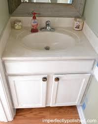 half bath vanity makeover annie sloan chalk paint