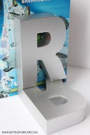 monogram bookends easy diy monogram book ends for kids setting for four