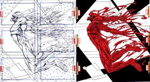 carnage sketch card puzzle marvel universe 2011 by slickaway on
