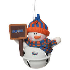 gators snowman bell with sign ornament
