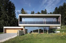 concrete houses plans contemporary house in austria exhaling transparence with