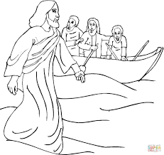 can walk on the water ideal miracles of jesus coloring pages