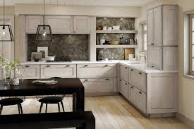 kraftmaid shaker style kitchen cabinets kraftmaid aged concrete kitchen rustic kitchen