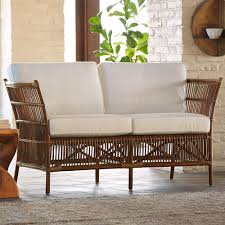 eco friendly rattan settee for indoors or out vivaterra