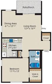 1 Bedroom Apartment Floor Plans by Floor Plans U0026 Pricing U2013 Lp Apartments
