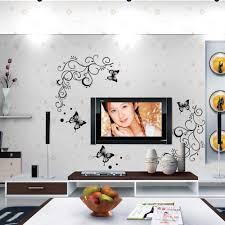 lowest price calssic black butterfly flower wall sticker home 3d lowest price calssic black butterfly flower wall sticker home decor poster flora butterflies tv wall beautiful decoration