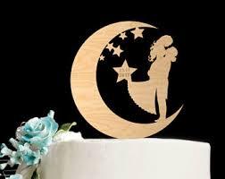 moon cake topper etsy