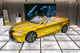 lexus yellow convertible garage u2013 intersect by lexus u2013 dubai