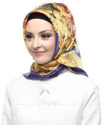 silk home silk home mor sarı renkli çiçek desenli twill ipek eşarp esarp