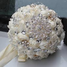 wedding bouquets online best selling price ivory brooch bouquet wedding bouquet de