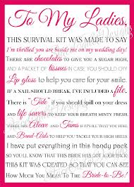asking bridesmaids poems best wedding survival kit poem pictures styles ideas 2018
