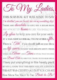 asking bridesmaids poems best wedding survival kit poem pictures styles ideas 2018