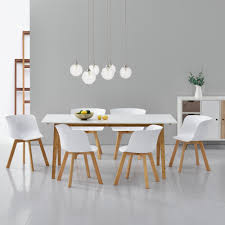 Esszimmertisch Ebay En Casa Esstisch Mit 6 Stühlen Weiß 180x80 Küchentisch