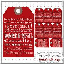 red christmas gift tags bible verse isaiah 9 6 printable