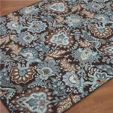 Peacock Blue Rug Vera Bradley Hooked Rug Chocolate Brown U0026 Peacock Blue Sh