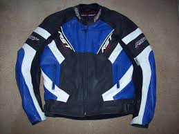sport motorcycle jacket rst fusion motorcycle leather race sport jacket in blue white