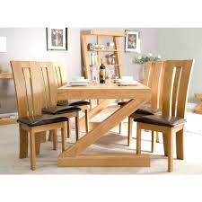 solid oak table with 6 chairs oak dining table 6 chairs artcercedilla com