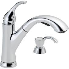 kitchen faucets at lowes shop delta kessler chrome 1 handle deck mount pull out kitchen
