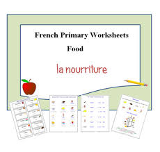 french primary worksheets food vocabulary learning resources