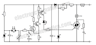 automatic street light switch circuit diagram circuit and