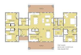 clever 4 one story ranch house plans double mastersuite plan