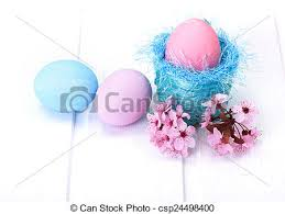pink easter eggs blue and pink easter eggs arrangement stock photography search